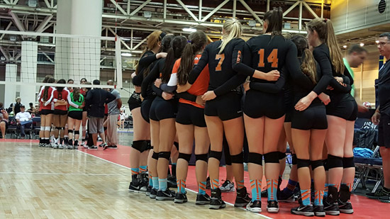 Legacy and Five Starz huddle during the final set of their three-game encounter.