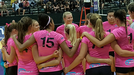 Tstreet gets together after completing its sweep of Five Starz and reaching the quarterfinals.