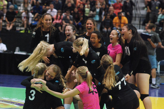 Tstreet players erupt in celebration after earing the championship, the first Open gold medal for the club.