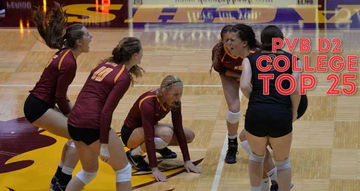Northern State is still undefeated and No. 1 in our latest Top 25 Rankings after a huge victory over Concordia-St. Paul, which was ranked No. 1 in the AVCA Coaches' Poll.